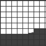 Pixels filling Squares