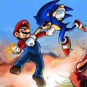 Sonic EXE vs Mario